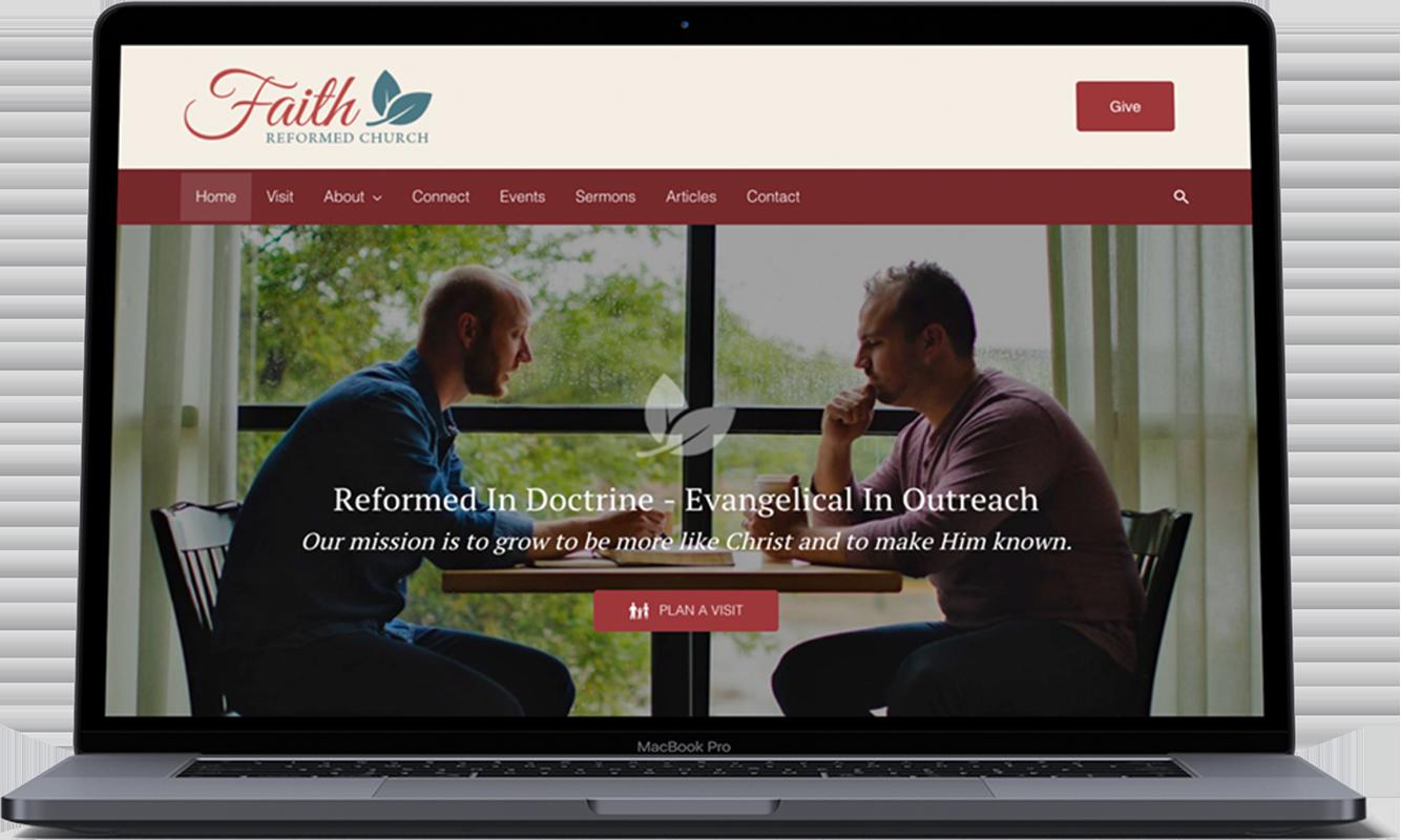 laptop-church-website